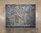 Stone relief sculptured panel of prisoners from the campaign against Elam. From the palace of Assurbanipal room VI/T1, Nimrud, circa 645 BC. inv 19908  Louvre Museum , Paris