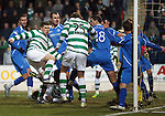 St Johnstone v Celtic...18.12.11   SPL .Gary Hooper scores the oepning goal.Picture by Graeme Hart..Copyright Perthshire Picture Agency.Tel: 01738 623350  Mobile: 07990 594431