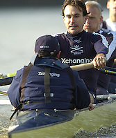 PUTNEY, LONDON, ENGLAND, 19.03.2006, Pre 2006 Boat Race Fixture, Oxford UBC vs  Imperial BC. over the Championship Course, from Putney to Mortlake.   © Peter Spurrier/Intersport-images.com.Oxford, stroke, Bastien Ripoll.[Mandatory Credit Peter Spurrier/ Intersport Images][Mandatory Credit Peter Spurrier/ Intersport Images] Varsity Boat Race, Rowing Course: River Thames, Championship course, Putney to Mortlake 4.25 Miles