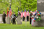 Memorial Day ceremony in a small New England town