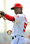 4 March 2012: Washington Nationals outfielder Eury Perez warms up prior to a game against the Houston Astros at Space Coast Stadium in Viera, Florida. The Astros defeated the Nationals 10-2 in Grapefruit League action. Mandatory Credit: Ed Wolfstein Photo