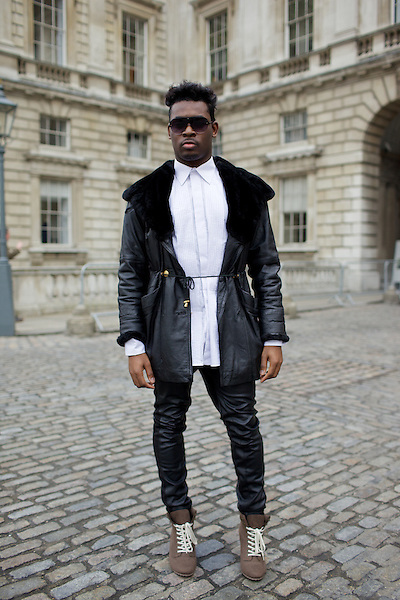 London Fashion Week Street Style February 2011 Somerset House London Marcus Dawes