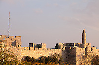 The Citadel of David and walls of Jerusalem's Old City.