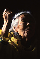 """Chevak elder Mary Chimiralrea describes a traditional harvest dance she witnessed as a little girl. Arriving missionaries outlawed Yup'ik dancing in the early 1900s, declaring it """"un-Christian."""""""