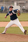 New Plymouth's Garrett Bowen pitches against Vale on April 28, 2011.