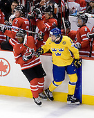 Tyler Myers (Canada - 3), Keith Aulie (Canada - 32), Ryan Ellis (Canada - 8) - PK Subban (Canada - 5), Magnus Pääjärvi-Svensson (Sweden - 21) - Canada defeated Sweden 5-1 (2 en) in the 2009 World Junior Championship gold medal game on Monday, January 5, 2009, at Scotiabank Place in Kanata (Ottawa), Ontario.  This was the second consecutive year that Canada won gold and Sweden won silver after Canada defeated Sweden in overtime in 2008 and was Canada's fifth consecutive gold.
