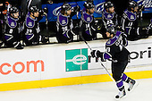 Kyle Clifford (Los Angeles Kings, #13) celebrate during ice-hockey match between Los Angeles Kings and Colorado Avalanche in NHL league, February 26, 2011 at Staples Center, Los Angeles, USA. (Photo By Matic Klansek Velej / Sportida.com)