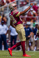 TALLAHASSEE, FLA 9/10/16-Florida State's Ricky Aguayo watches his point after touchdown against Charleston Southern during first quarter action Saturday at Doak Campbell Stadium in Tallahassee. <br /> COLIN HACKLEY PHOTO