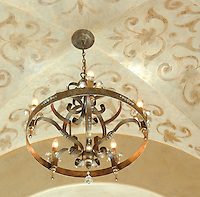 Venetian Plaster decorative painting at groin vaulted ceiling