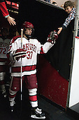 Desmond Bergin (Harvard - 37) - The visiting Brown University Bears defeated the Harvard University Crimson 2-0 on Saturday, February 22, 2014 at the Bright-Landry Hockey Center in Cambridge, Massachusetts.