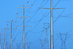 High voltage power lines near Phoenix Arizona