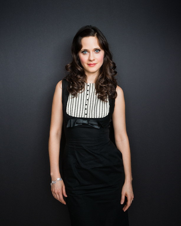 Zoey Deschanel photographed for The Creative Coalition at Haven House in Beverly Hills, California on February 19, 2009