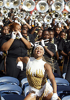 September 17, 2005:  Grambling State University band and dance team members entertained the crowd during the game. Grambling State lost 48-7 to Washington State University at Quest Field in Seattle, WA.