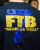 T-shirt theme: FTB (For the Boys) &quot;Might as Well&quot; along with the mysterious 7. - The University of Notre Dame Fighting Irish defeated the University of New Hampshire Wildcats 2-1 in the NCAA Northeast Regional Final on Sunday, March 27, 2011, at Verizon Wireless Arena in Manchester, New Hampshire.