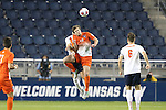 11 December 2015: Clemson's Austen Burnikel (20). The Clemson University Tigers played the Syracuse University Orange at Sporting Park in Kansas City, Kansas in a 2015 NCAA Division I Men's College Cup Semifinal match. The game ended in a 0-0 tie after overtime; Clemson advanced to the Final by winning the penalty kick shootout 4-1.