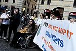 Famiglie disabili protestano per il riconoscimento della figura del caregiver
