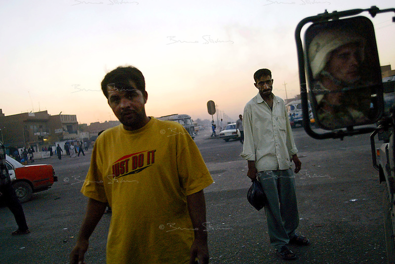 Baghdad, Iraq, June 6, 2003.The US Army (2nd ACR) on night patrol in Thawra (ex-Saddam City), the most dangerous area of Baghdad..