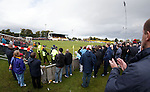 Rangers fans watching the match action at Mosset Park, Forres