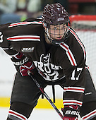 Zack Pryzbek (Brown - 17) - The visiting Brown University Bears defeated the Harvard University Crimson 2-0 on Saturday, February 22, 2014 at the Bright-Landry Hockey Center in Cambridge, Massachusetts.