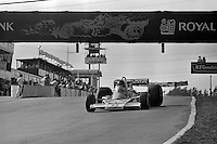 BOWMANVILLE, ONTARIO - OCTOBER 3: James Hunt of Great Britain drives his McLaren M23 8-2/Ford Cosworth during the Canadian Grand Prix FIA Formula 1 race at Mosport Park near Bowmanville, Ontario, on October 3, 1976.