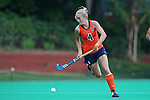 12 September 2014: Syracuse's Lieke Visser (NED). The University of North Carolina Tar Heels hosted the Syracuse University Orange at Francis E. Henry Stadium in Chapel Hill, North Carolina in a 2014 NCAA Division I Field Hockey match. UNC won the game 3-0.