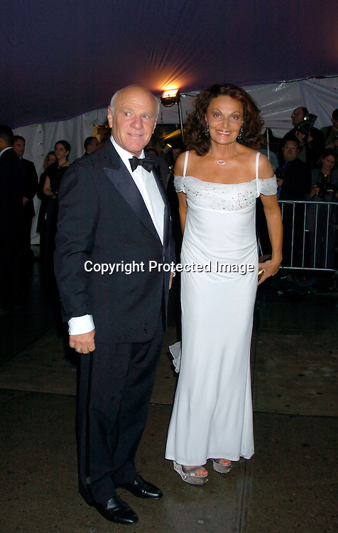 Barry Diller and wife Diane von Furstenberg ..at The Costume Institute Gala of the Metropolitan Museum of Art on april 26, 2004 ...Photo by Robin Platzer, Twin Images