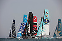 Extreme Sailing Series 2012. Act 1.Oman.Day 3 of racing close to the shore.The Wave Muscat. ...Credit: Lloyd Images