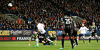 Bolton Wanderers' Adam Le Fondre hits the bar in the closing stages<br /> <br /> Photographer Alex Dodd/CameraSport<br /> <br /> The EFL Sky Bet League One - Bolton Wanderers v Bury - Tuesday 18th April 2017 - Macron Stadium - Bolton<br /> <br /> World Copyright &copy; 2017 CameraSport. All rights reserved. 43 Linden Ave. Countesthorpe. Leicester. England. LE8 5PG - Tel: +44 (0) 116 277 4147 - admin@camerasport.com - www.camerasport.com