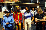 PARTY GOERS WITH DREADLOCKS. NOTTING HILL CARNIVAL, 1979, 1979