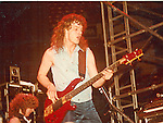 neil Murray performing live with Gary Moore in Hartford , Ct 1983