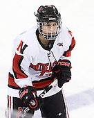 Claire Santostefano (NU - 13) - The Harvard University Crimson defeated the Northeastern University Huskies 4-3 (SO) in the opening round of the Beanpot on Tuesday, February 8, 2011, at Conte Forum in Chestnut Hill, Massachusetts.