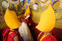 Some child monks having fun during the Thiksey Festival in Ladakh...