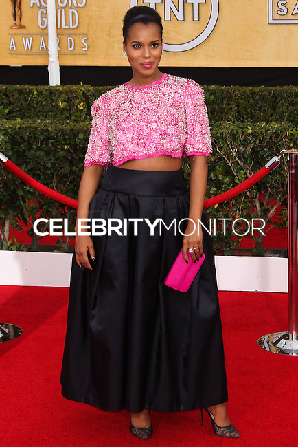 LOS ANGELES, CA - JANUARY 18: Kerry Washington at the 20th Annual Screen Actors Guild Awards held at The Shrine Auditorium on January 18, 2014 in Los Angeles, California. (Photo by Xavier Collin/Celebrity Monitor)