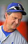 5 September 2011: Los Angeles Dodgers Manager Don Mattingly in the dugout during a game against the Washington Nationals at Nationals Park in Los Angeles, District of Columbia. The Nationals defeated the Dodgers 7-2 in the first game of their 4-game series. Mandatory Credit: Ed Wolfstein Photo