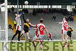 Kenneth O'Keeffe Rathmore Goalkeeper in action against Jordan Kelly Dr Crokes in the O'Donoghue Cup Final at Fitzgerald Stadium on Sunday.
