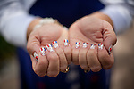 The fingernails of Verna Blackwell-Hilario are painted to spell O-B-A-M-A. Ms. Verna was in attendance at a campaign fundraising event for President Obama at the Henry B Gonzalez Convention Center in San Antonio, Texas. July 17, 2012