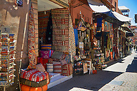 Shops of the Medina souk, Marrakesh, Morroco