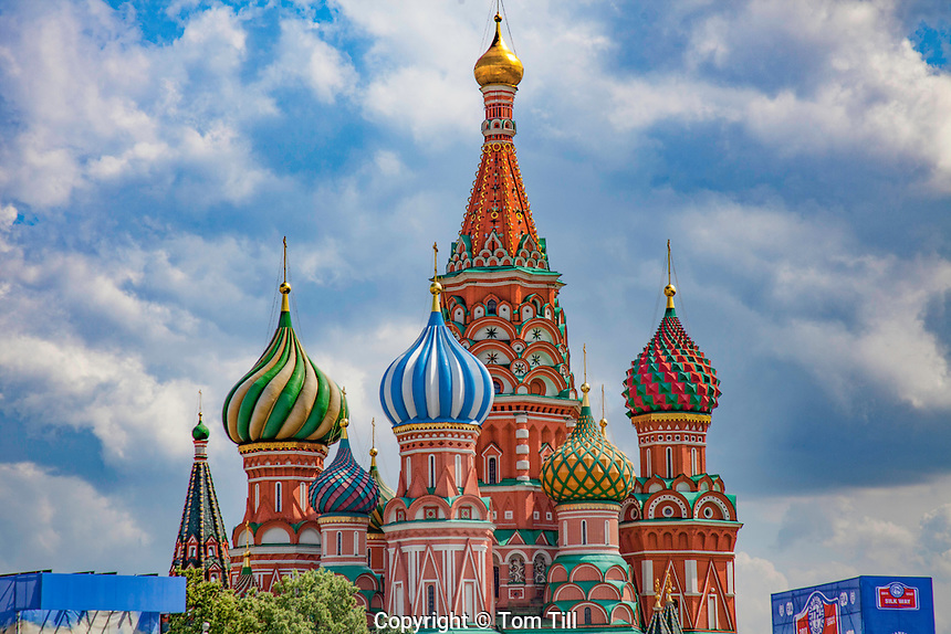 St. Basil's Cathedral. Moscow, Russia Federation, Red Square, Built 1554-61