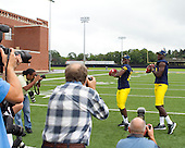 University of Michigan Football Media Day and Fan Day activities at Michigan Stadium in Ann Arbor, MI, on August 14, 2011.