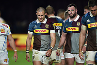 Mike Brown of Harlequins leaves the field dejected. Aviva Premiership match, between Harlequins and Exeter Chiefs on April 14, 2017 at the Twickenham Stoop in London, England. Photo by: Patrick Khachfe / JMP