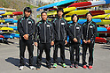 (L to R) Naoya Sakamoto, Momotaro Matsushita, Hiroki Watanabe, Shinobu Kitamoto, Asumi Omura (JPN), .MARCH 29, 2012 - Canoeing : .2012 International Canoeing Competitions Selection Trial & The 22th Fuchuko Canoe Regatta, at Lake Fuchu, Kagawa Japan. (Photo by Akihiro Sugimoto/AFLO SPORT) [1080]