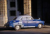 1950's Blue,  American  Classic,  Car, Havana, Cuba, Republic of Cuba,