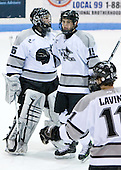 Tyler Sims (Providence 35), Kyle MacKinnon (Providence 15) - The Boston College Eagles and Providence Friars played to a 2-2 tie on Saturday, March 1, 2008 at Schneider Arena in Providence, Rhode Island.