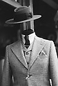 London, UK. 16.01.2016. Manequin in hat and houndstooth suit, Museum Street, Holborn. Photograph © Jane Hobson.