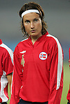 06 August 2008: Ingvild Stensland (NOR).  The women's Olympic team of Norway defeated the United States women's Olympic soccer team 2-0 at Qinhuangdao Olympic Center Stadium in Qinhuangdao, China in a Group G round-robin match in the Women's Olympic Football competition.