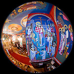 St. Sava frescos by Miloje Milinkovic'..N.W. corner alcove of St. Sava Church