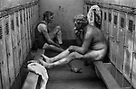 Snowdown Colliery Aylesham Kent. Locker room. Britain 1970s. Uk<br />