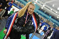 SCHAATSEN: HEERENVEEN: 03-02-2017, KPN NK Junioren, Kampioen Junioren C Dames, Debby Behr, ©foto Martin de Jong