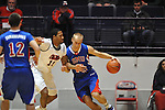 SMU's Aliaksei Patsevich (13) vs. Ole Miss' Steadman Short (15) at the C.M. &quot;Tad&quot; Smith Coliseum in Oxford, Miss. on Tuesday, January 3, 2012. Ole Miss won 50-48.