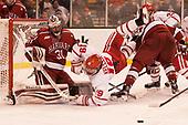 Merrick Madsen (Harvard - 31), Clayton Keller (BU - 19) - The Harvard University Crimson defeated the Boston University Terriers 6-3 (EN) to win the 2017 Beanpot on Monday, February 13, 2017, at TD Garden in Boston, Massachusetts.